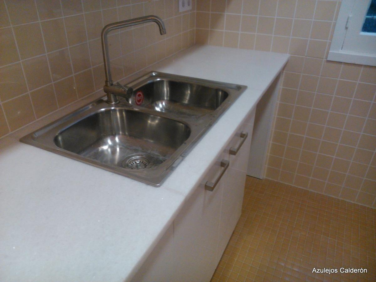 Azulejos calder n s l reformas reforma de piso c for Fregadero 80x50