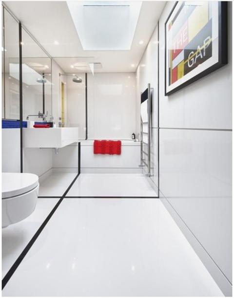 Azulejos Calderon - Como distribuir un baño estrecho y alargado - Azulejos Calderón