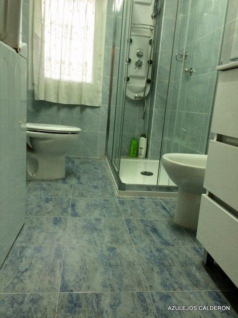 Reforma Baño Azulejos:Azulejos Calderon – REFORMA DE BAÑO C/ DE ECHEGARAY – Azulejos